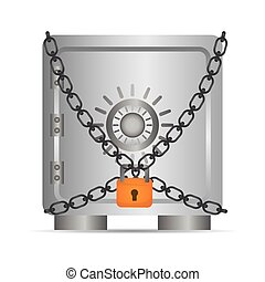 Strongbox icon Security system design Vector graphic -...