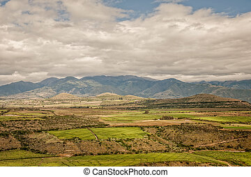 Cultivated Land In The Foothills Of The Andean Mountains
