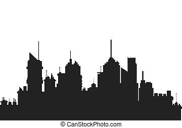 modern city skyline silhouette icon