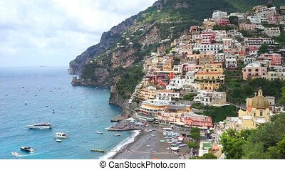 Positano village comune - Positano village on the Amalfi...