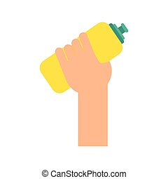Sport water bottle icon Healthy lifestyle design Vector...