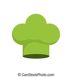chefs hat icon Organic and Healthy food design Vector...
