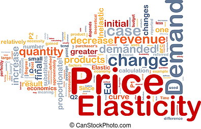 Price elasticity background concept - Background concept...