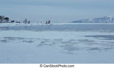 Holy Nose Peninsula. Beautiful winter Lake Baikal.