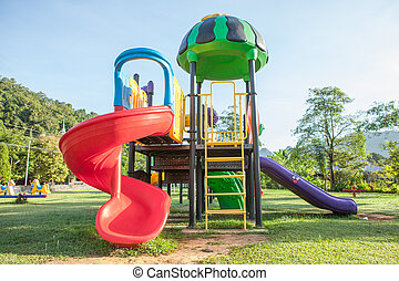 Children playground park. - Children playground park in The...