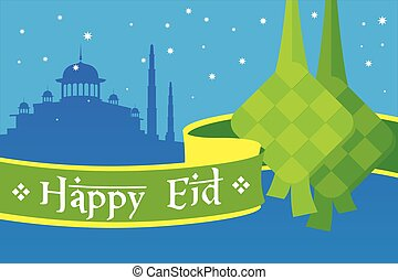 Happy Eid mubarak greetings and celebrate