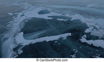 Large blocks of ice crack near Holy Nose Peninsula Beautiful...