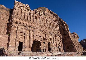 The Palace tomb. One of the Royal Tombs, Petra , Jordan