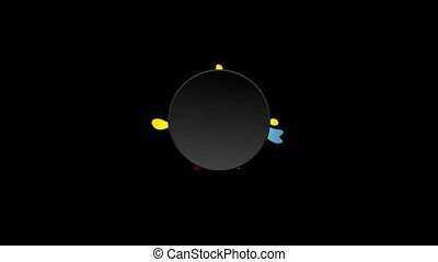Colorful flower and black circle video animation - Colorful...