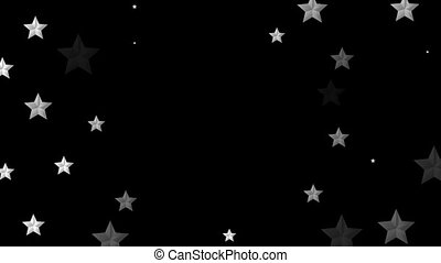 Abstract grey silver stars video animation - Abstract grey...
