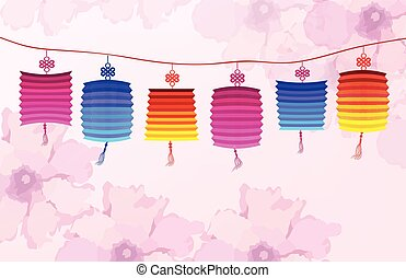 Chinese new year with lantern