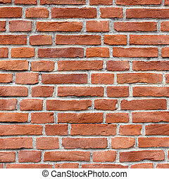 Red brick wall - Background of new brick wall