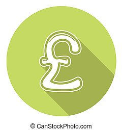 Great Britain Pound Flat Icon - Great Britain Pound Flat...