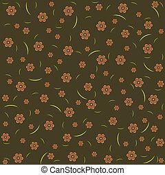 Vintage floral pattern - Vintage floral pattern on dark...