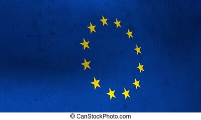 Flags of the United Kingdom and the European Union. UK Flag...
