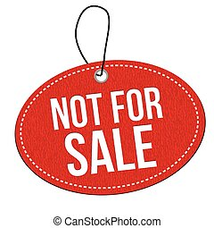 Not for sale label or price tag - Not for sale red leather...