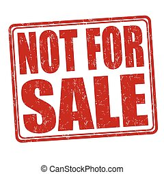 Not for sale stamp - Not for sale grunge rubber stamp on...