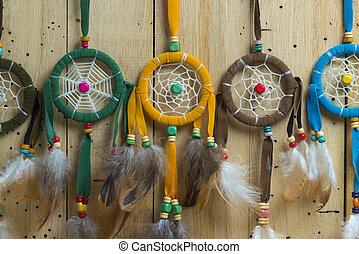 Vintage Dream Catcher colourful set