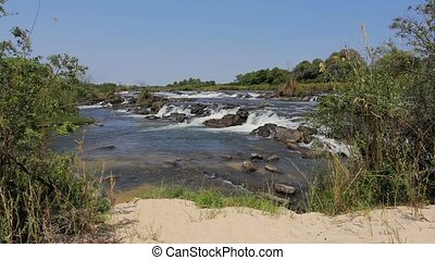 Famous Popa falls in Caprivi, North