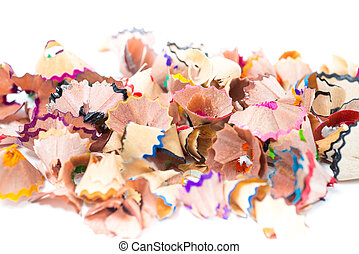 Color pencil shaves background