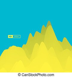 Mountain Landscape Mountainous Terrain Vector Illustration...