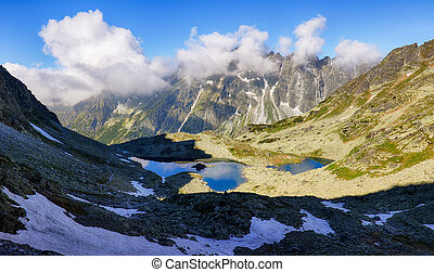 Tatras mountain lake in Slovakia