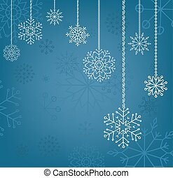 Snowflakes background, christmas and new year decoration for...