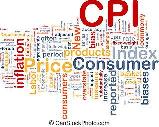 Consumer Index background concept
