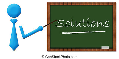 Solutions Human With Greenboard - Solutions concept image...