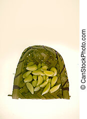 Garlic Cloves in Winnowing Fan