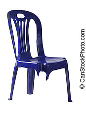Three Legged Plastic Chair - Plastic Chair with Broken Leg...