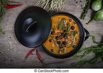 Tailandês, food:, flautista, sarmentosum, folhas,...