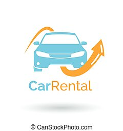 Car rental logo design. Vector icon illustration