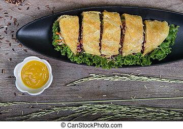 vegetables pie, food closeup (Vegetarian for good health )