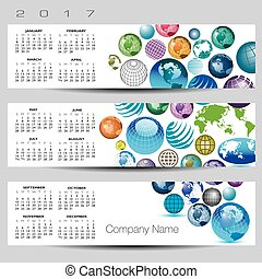Exciting and colorful globe calenda