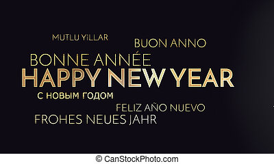 multilingual happy new year background