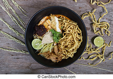 khao soi , curry noodles , thai food