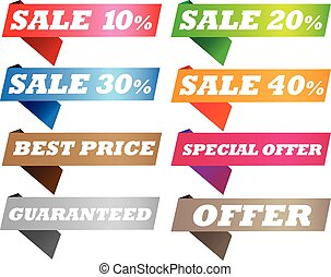 Sell label - Vector illustration of colorful discount sell...