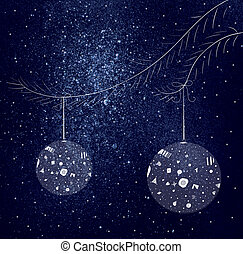 Christmas decorations - space background with Christmas...