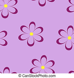 Seamless pattern Vector illustration with flowers Vintage...