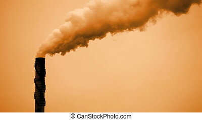 Smoke Stack - Smoke stack spewing out air pollution
