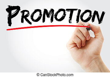 Hand writing Promotion with marker, business concept...