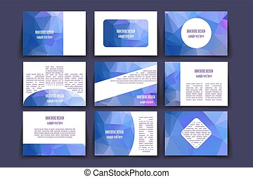 Template brochure design - Vector illustration To use on a...