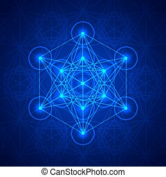 Metatrons Cube - Flower of life. - Vector illustration. To...