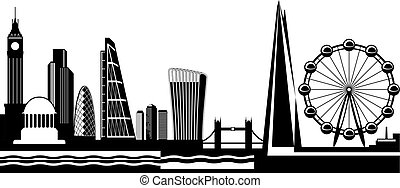 View from London by day - vector illustration