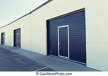 garage or warehouse - storage, building structure and...