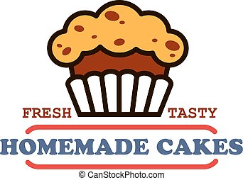Homemade cakes and pastries sign for bakery design - Bakery...