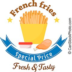 Fast food lunch special offer icon for menu design