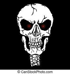 Red eyes Skull vector illustration