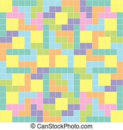 Tetris background pastel colors